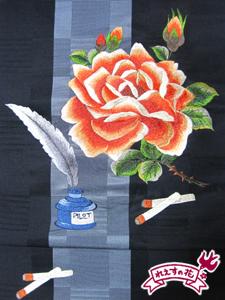 薔薇と煙草と筆ペンと
