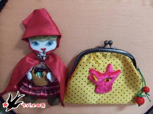 清菊さん作バッグ 赤ずきんちゃん