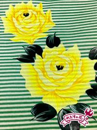 薔薇にボーダー