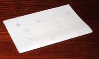 懐紙で包む~写真と名刺