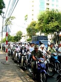 ヴェトナムは、一日中バイクの洪水