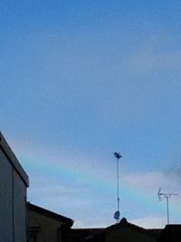 虹かくれて見えず