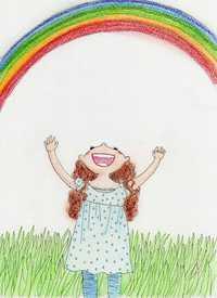 奇跡のようにきれいな虹