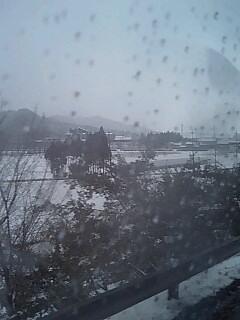彦根の雪景色