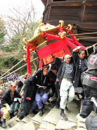 日吉大社・山王祭2011 神輿上げ(お輿上げ)・3月6日