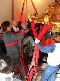 日吉大社・山王祭2011 鈴縄巻き・2月27日